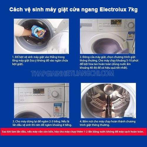 vệ sinh máy giặt cửa ngang