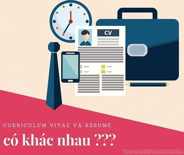 Phân biệt Resume và CV