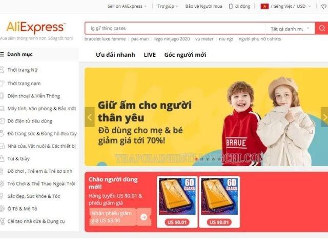 Cách mua hàng trên Aliexpress tương đối đơn giản