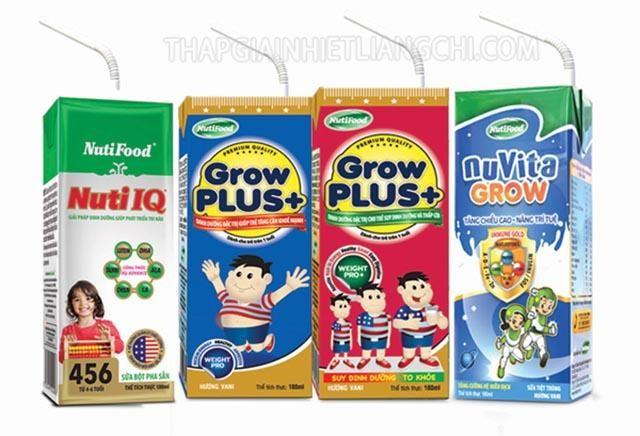 NutiFood nổi tiếng với các sản phẩm sữa trẻ em