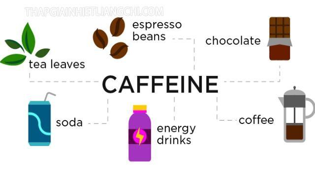 Các thực phẩm và thức uống phổ biến chứa cafein.