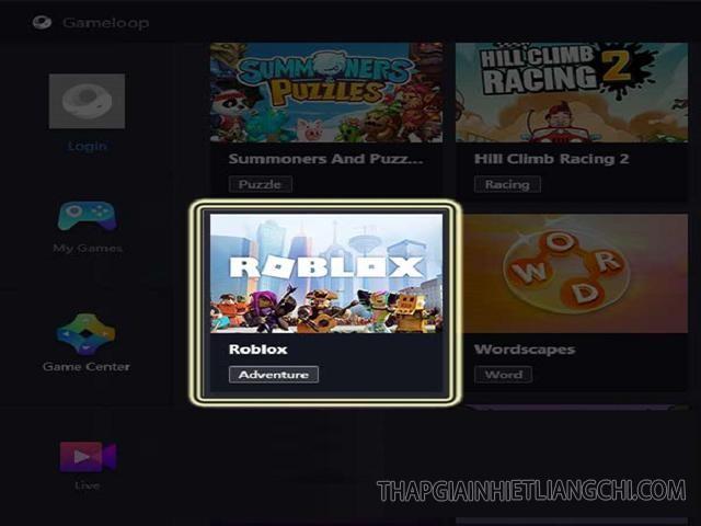 chọn game Roblox