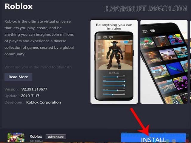 cài đặt Roblox PC