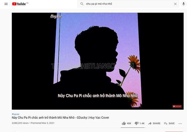 Bản remix hơn 3 triệu view của chu pa pi mô nha nhố
