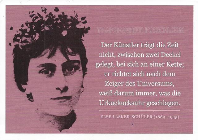 Tiểu sử của nữ thi sĩ Else lasker-schüler.