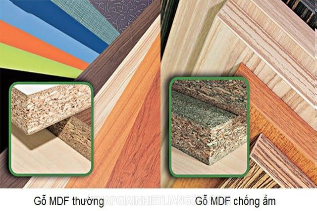 Gỗ MDF thường và MDF chống ẩm