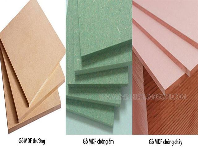 Ba loại gỗ MDF