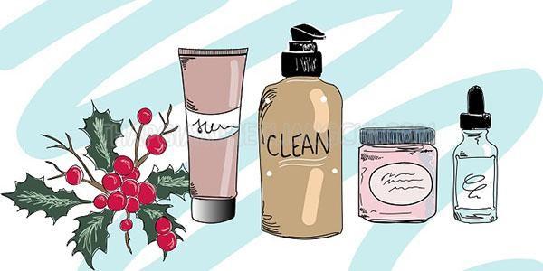 Minh họa các sản phẩm chăm sóc da