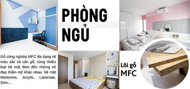 Gỗ MFC phủ Melamine là lựa chọn tuyệt vời cho nội thất phòng ngủ.