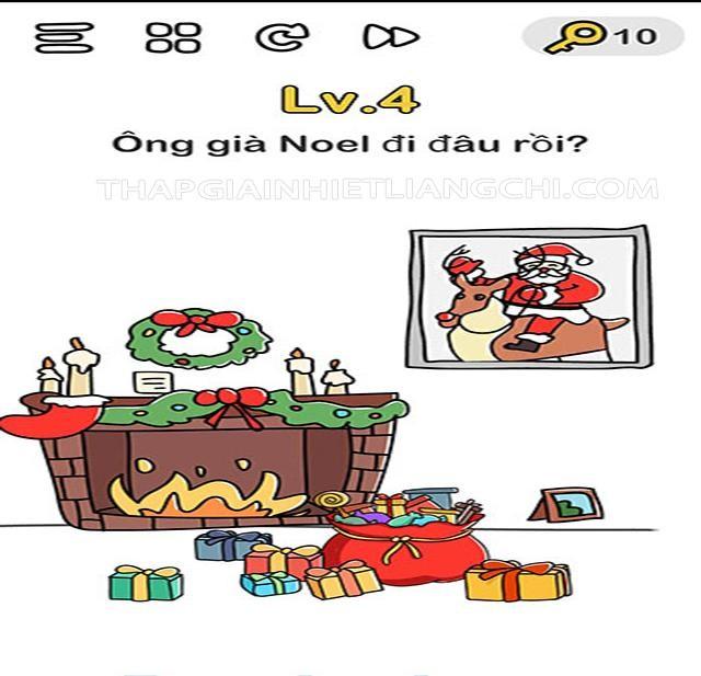 Đáp án trò chơi Brain Out ông già Noel Level 4